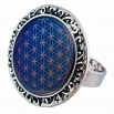 Prstýnek -  Květ života modrý
