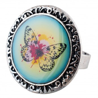 Prstýnek -  Motýlek zelený
