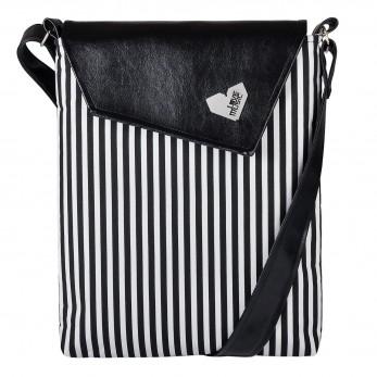 Dámská kabelka Dafné - Černá - Černobílý proužek