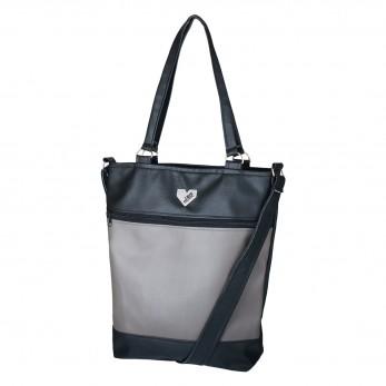 Dámská kabelka Elinor - Černošedá