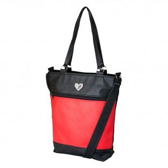 Dámská kabelka Elinor - Černočervená