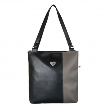 Dámská kabelka Diana  - Černotmavošedá