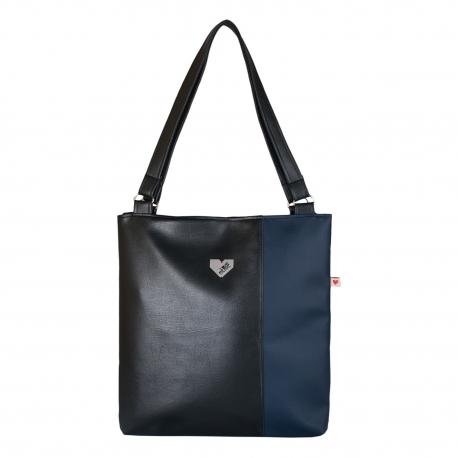 Dámská kabelka Diana  - Černotmavomodrá