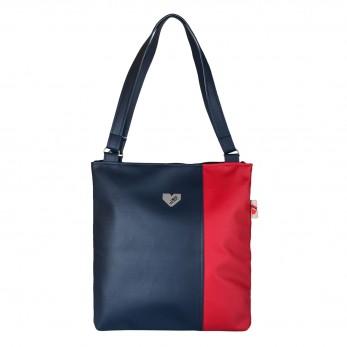 Dámská kabelka Diana  - Tmavomodročervená