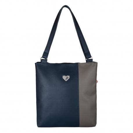Dámská kabelka Diana  - Tmavomodrošedá