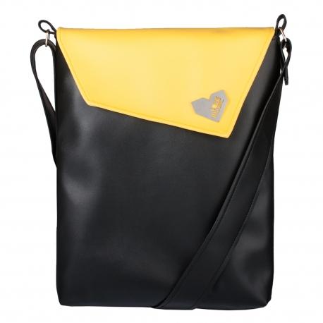 Dámská kabelka Dafné - Žlutočerná