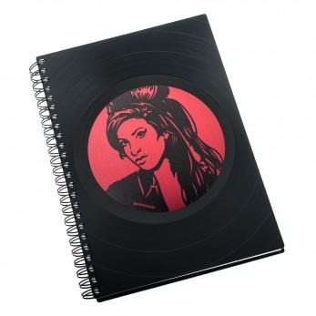 Zápisník z vinylových desek A5 - bez linek - Amy Winehouse