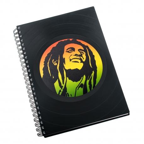 Zápisník z vinylových desek A5 - bez linek - Bob Marley