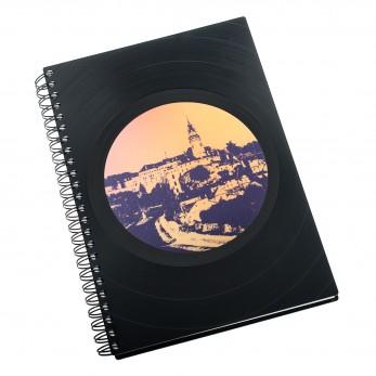 Zápisník z vinylových desek A5 - bez linek - Český Krumlov