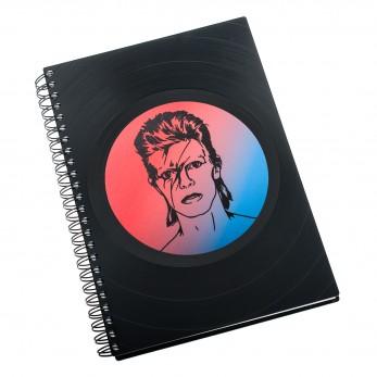 Zápisník z vinylových desek A5 - bez linek - David Bowie