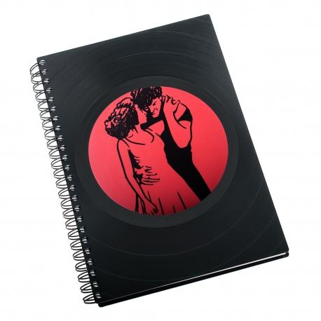 Zápisník z vinylových desek A5 - bez linek - Hříšný tanec