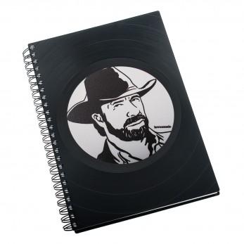 Zápisník z vinylových desek A5 - bez linek - Chuck Norris