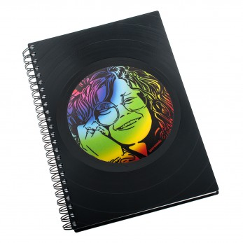 Zápisník z vinylových desek A5 - bez linek - Janis Joplin