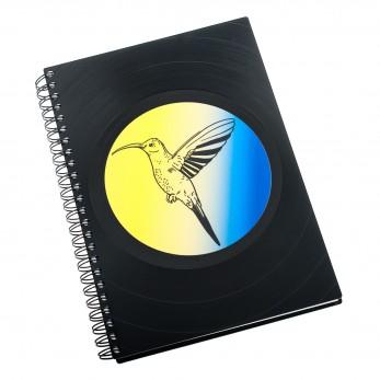 Zápisník z vinylových desek A5 - bez linek - Kolibřík