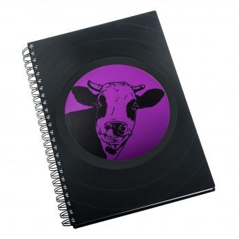 Zápisník z vinylových desek A5 - bez linek - Kráva