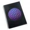 Zápisník z vinylových desek A5 - bez linek - Květ života modrý