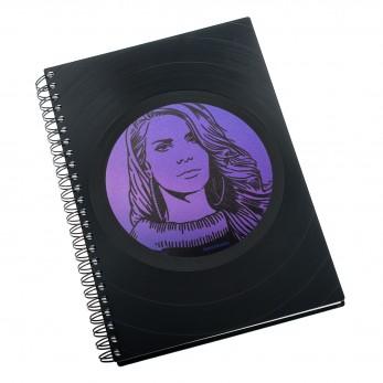 Zápisník z vinylových desek A5 - bez linek - Lana Del Rey