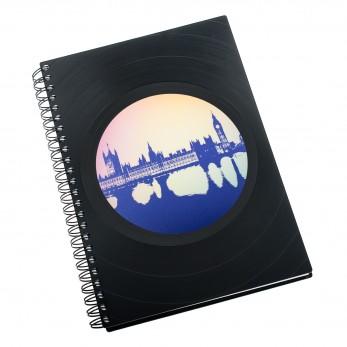 Zápisník z vinylových desek A5 - bez linek - Londýn