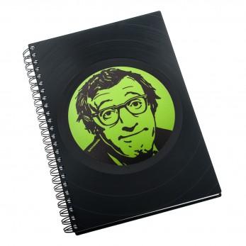 Zápisník z vinylových desek A5 - bez linek - Woody Allen