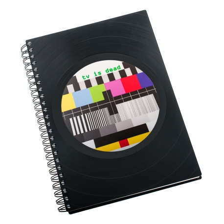 Zápisník z vinylových desek A5 - bez linek - TV is dead