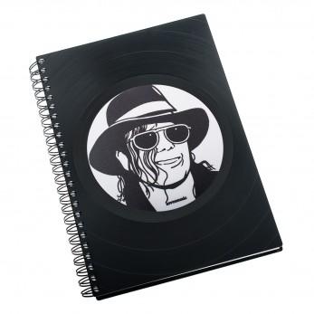 Zápisník z vinylových desek A5 - bez linek - Michael Jackson