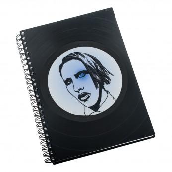 Zápisník z vinylových desek A5 - bez linek - Marilyn Manson