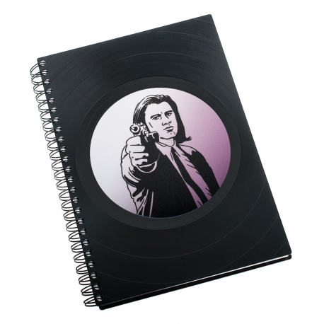 Zápisník z vinylových desek A5 - bez linek - John Travolta