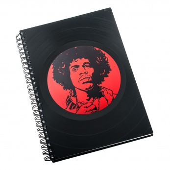 Zápisník z vinylových desek A5 - bez linek - Jimi Hendrix