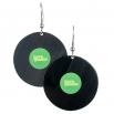 Visací náušnice vinyl - zelené - Lovemusic