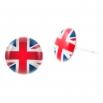 Malé náušnice pecky Epoxy - modrobíločervené - - Svět - Velká Británie