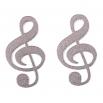 Ocelové náušnice pecky - Houslový klíč