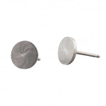 Ocelové náušnice pecky - Briliant  - Kruh