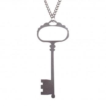 Ocelový přívěsek na krk  - Klíč