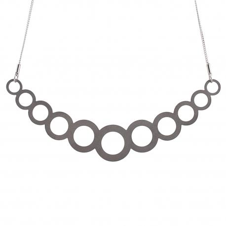 Luxusní dámský ocelový náhrdelník Complexity - Circles