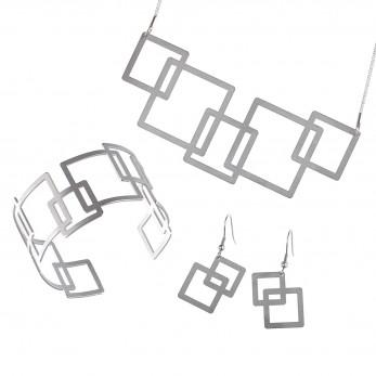 Luxusní sada ocelových šperků Complexity - Square