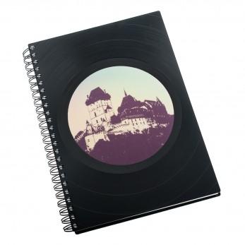 Zápisník z vinylových desek A5 - bez linek - Karlštejn
