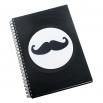 Zápisník z vinylových desek A5 - bez linek - Mustache