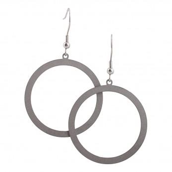 Ocelové visací náušnice - Kruhy Simple
