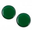Velké náušnice pecky - Lentilky - Tmavě Zelené
