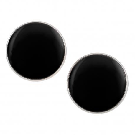 Velké náušnice pecky - Lentilky -  černé