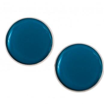 Velké náušnice pecky - Lentilky - Tmavě Modré
