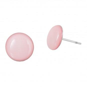 Malé náušnice pecky - Lentilky - růžové