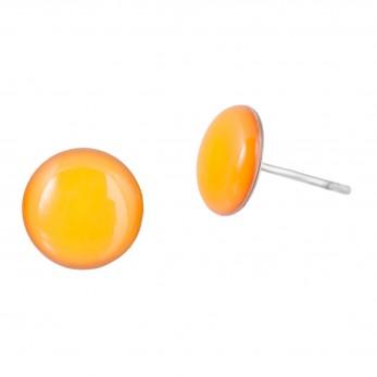 Malé náušnice pecky - Lentilky - žluté