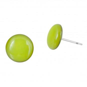 Malé náušnice pecky - Lentilky - světle zelené
