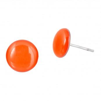 Malé náušnice pecky - Lentilky - oranžové