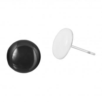 Malé náušnice pecky - Lentilky - black and white