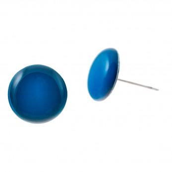 Malé náušnice pecky - Lentilky -  tmavě modré