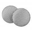 Malé buttonkové náušnice potažené látkou - Černobílé Tylovky
