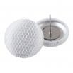 Malé buttonkové náušnice potažené látkou - Tylovky Bílé