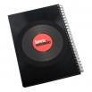 Zápisník z vinylových desek A5 - bez linek - Chat Noir